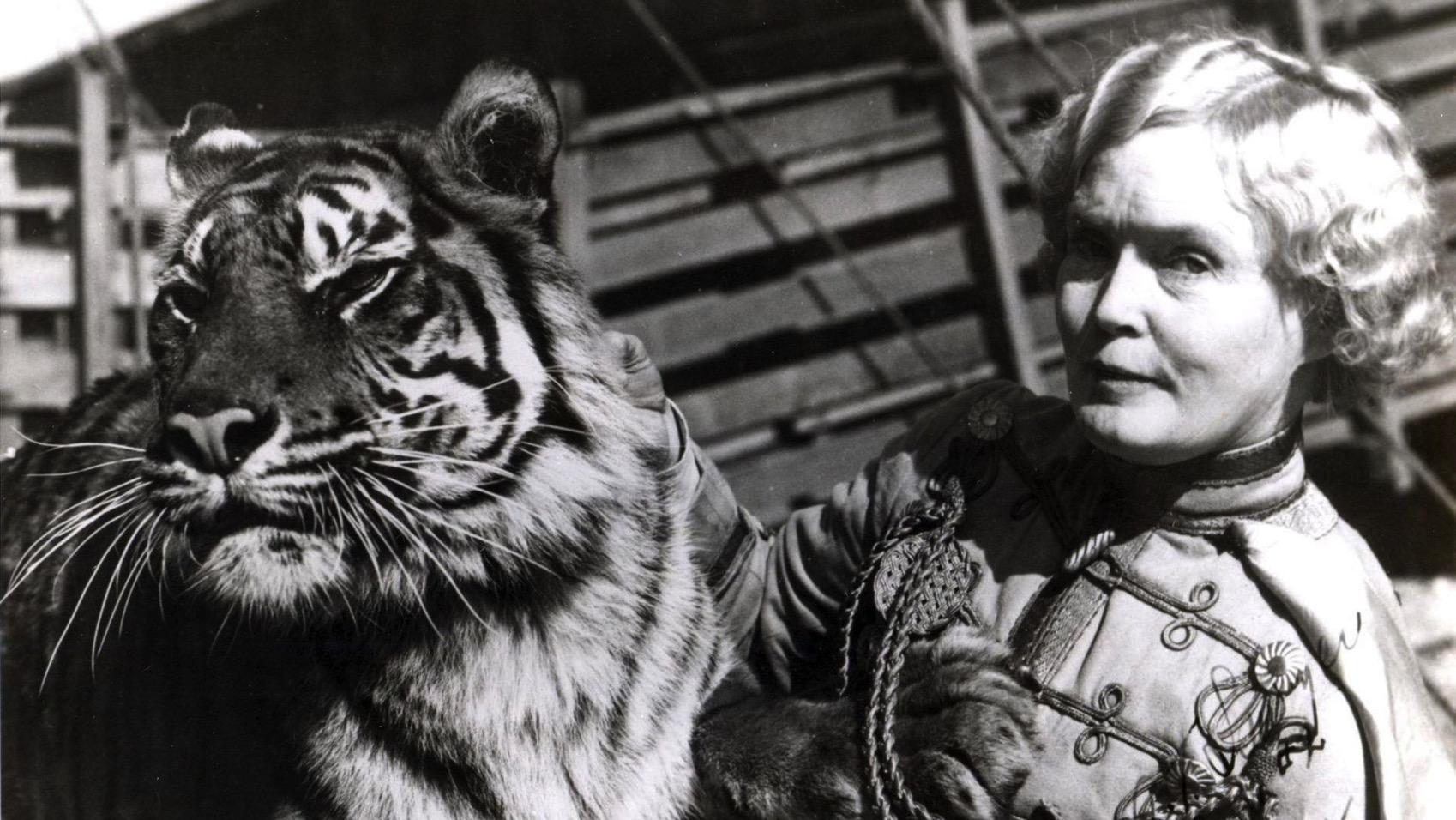 Ct ae mabel stark tiger tamer kogan sidewalks 0318