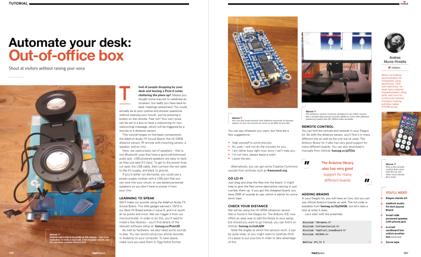 Issue 16 — HackSpace magazine – Automate your desk: Out-of