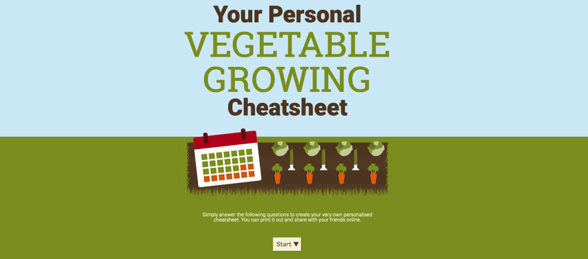 Vegetable Cheat Sheet 2