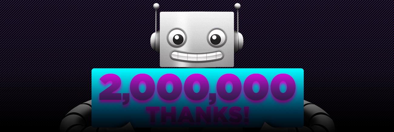 Adafruit 2Million Thanks Blog