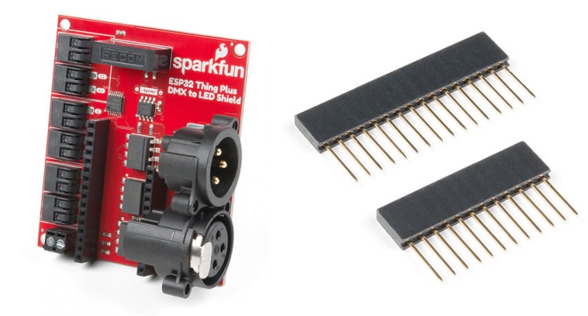 FEATHER taking flight at SparkFun ESP32 Thing Plus DMX to