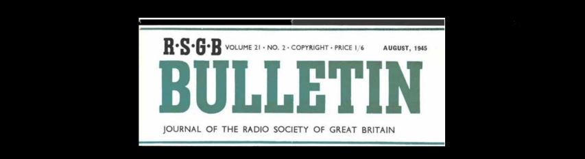 Radio Society of Great Britain Newsletter, spanning 1925-1967
