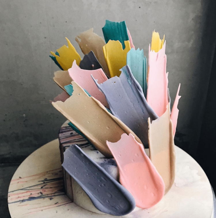 Brushstroke cakes kalabasa 1