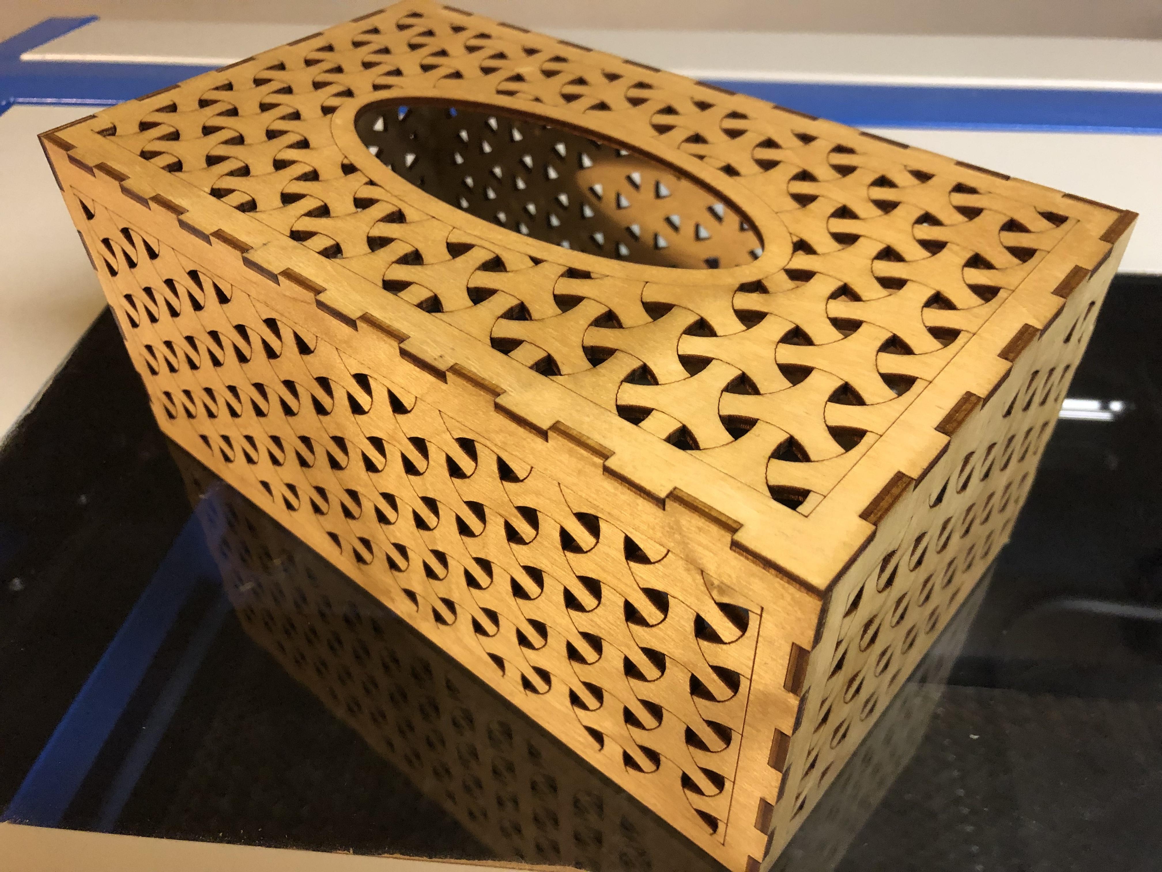 Laser Cut Tissue Box 3DThursday 3DPrinting Adafruit