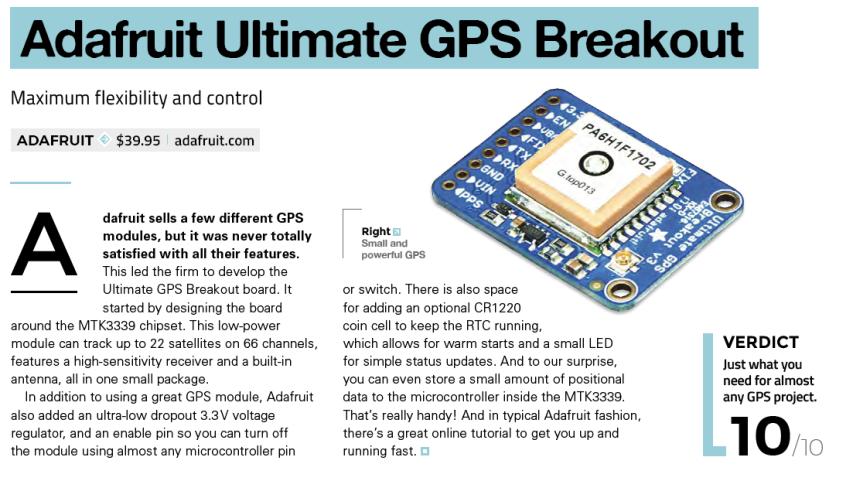 Adafruit Ultimate GPS Breakout Board
