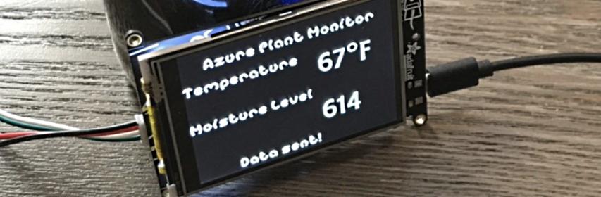 PyPortal IoT Plant Monitor with Microsoft Azure IoT and CircuitPython