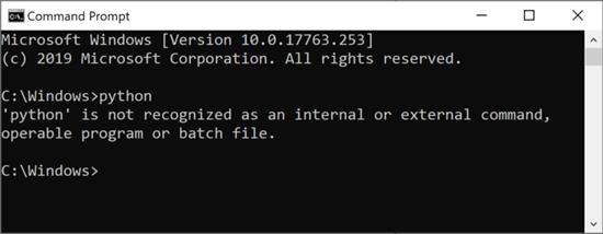 Using Python on Windows 10