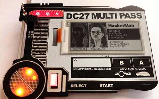 MULTI PASS / DEF CON 27 Indie Badge