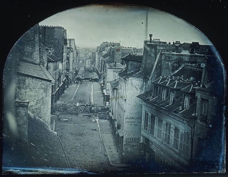 Barricades rue Saint Maur Avant l attaque 25 juin 1848 Après l attaque 26 juin 1848 Original