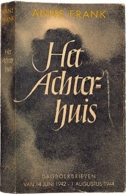 Het Achterhuis Diary of Anne Frank front cover first edition