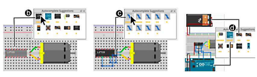 AutoFritz: Autocomplete for Prototyping Virtual Breadboard Circuits