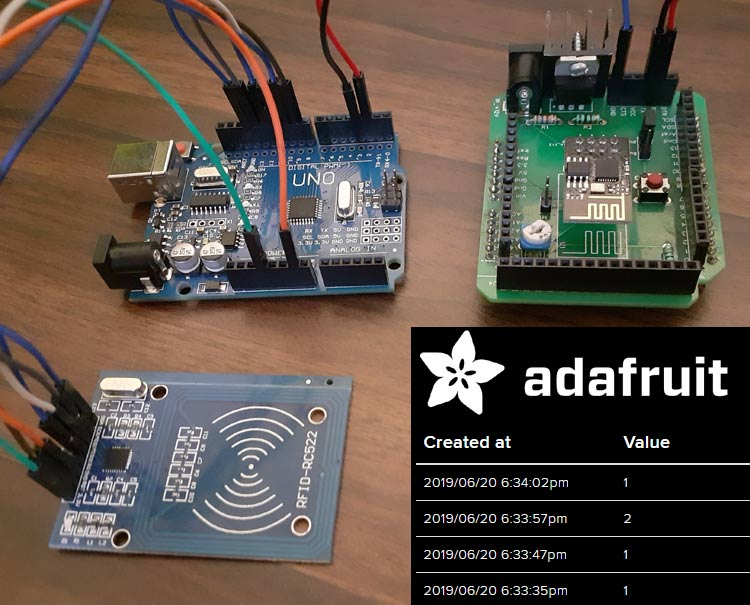 Taking Attendance with RFID and Adafruit IO #IoT #RFID