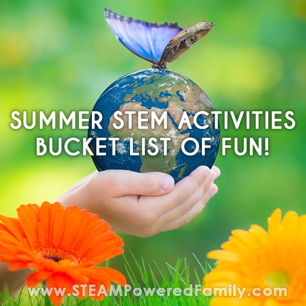 Summer STEM Activities Bucket List SQUARE