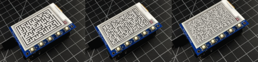 https://learn.adafruit.com/epaper-maze-maker/