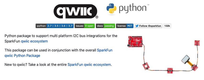 SparkFun is working on Python libraries, compatible with