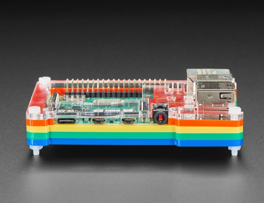 Rainbow Pibow Coupé 4 for Raspberry Pi 4What's that you say