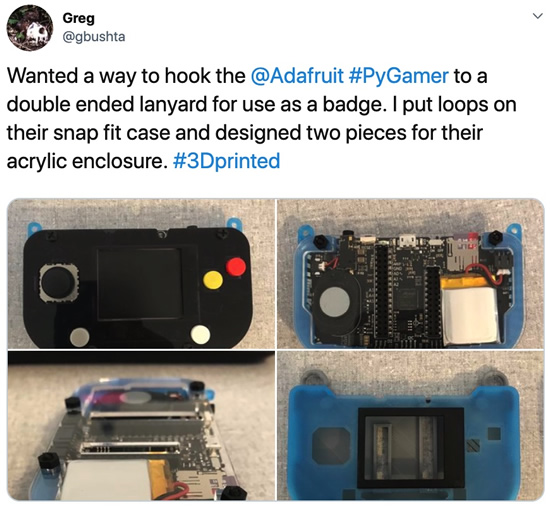Greg's mod for the PyGamer