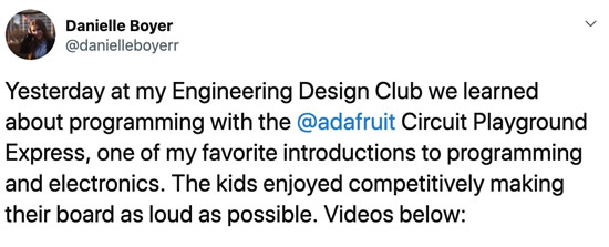 Daniel's Engineering Design Club