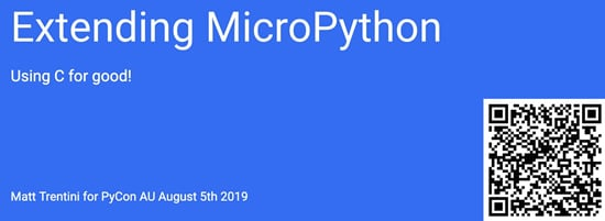 Extending MicroPython: Using C for good