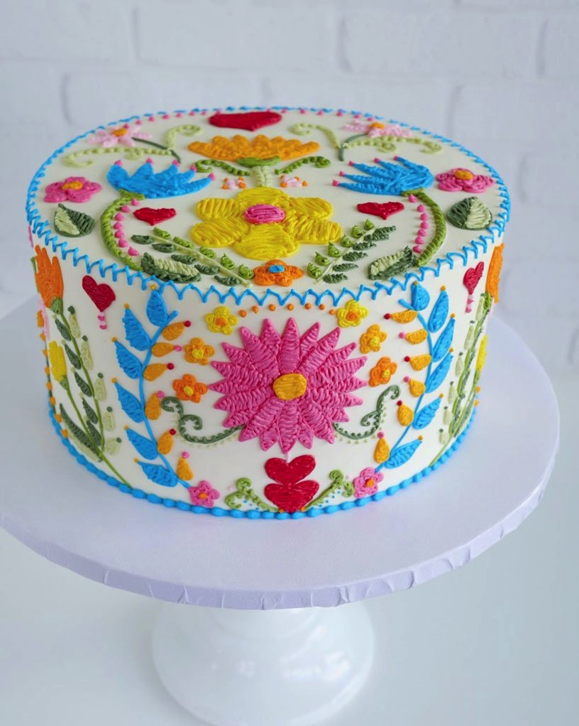 Cake artist leslie vigil embroidered patterns designboom 5