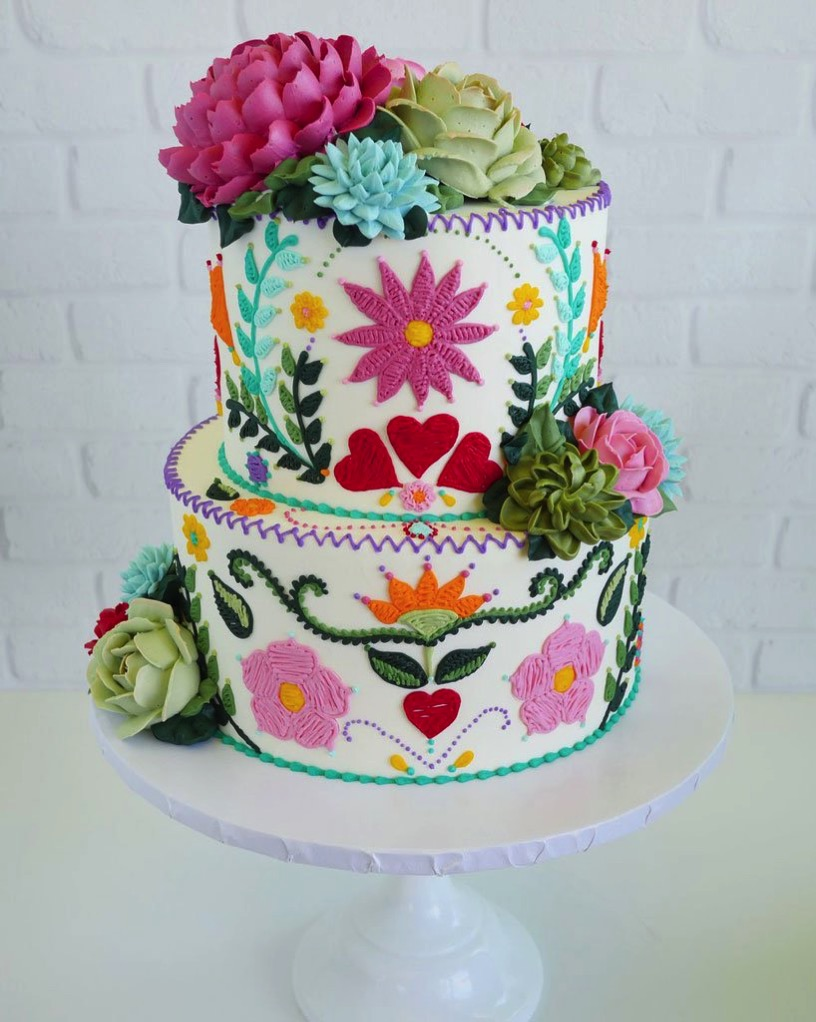 Cake artist leslie vigil embroidered patterns designboom 6