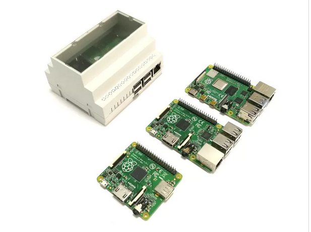 DIN Rail Mount for Raspberry Pi 3B and 4B #piday