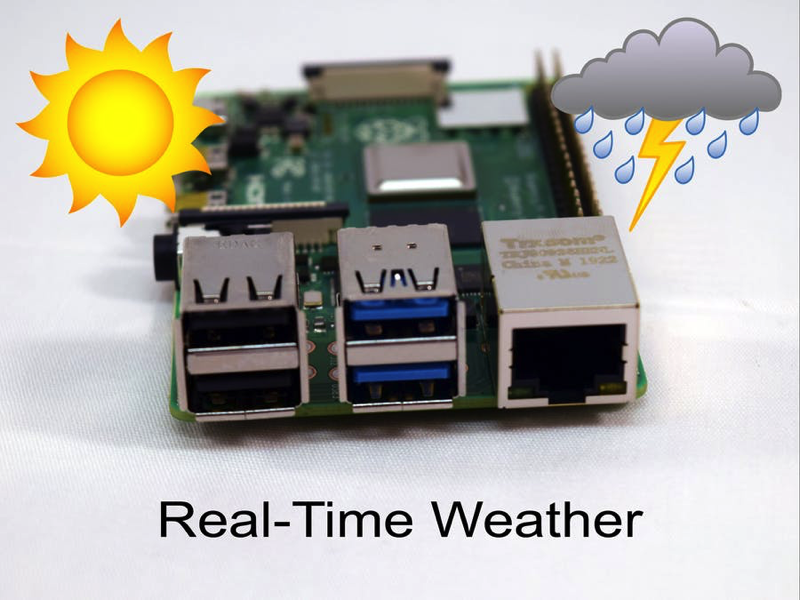 Real-Time Weather with Raspberry Pi 4 #piday #raspberrypi
