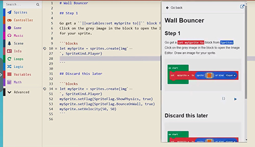 Create MakeCode Tutorials right inside MakeCode