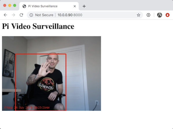 Opencv stream video flask browser video surveillance result 03