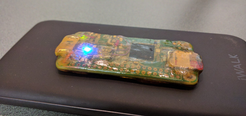 Pegleg raspberry pi with Qi charging biohacking implant