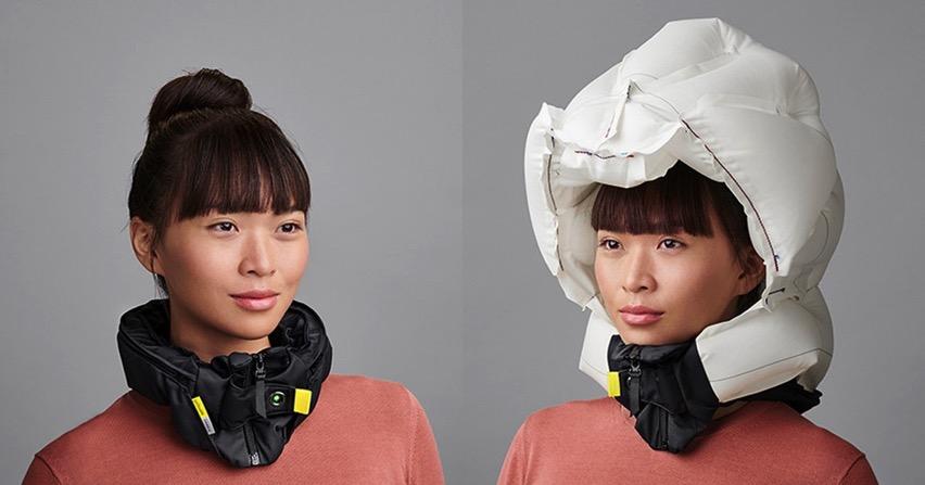 Worlds safest bike helmet airbag collar hovding designboom 1200