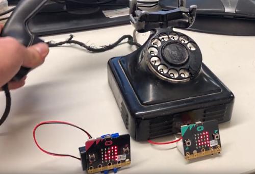 micro:bit rotary dial radio