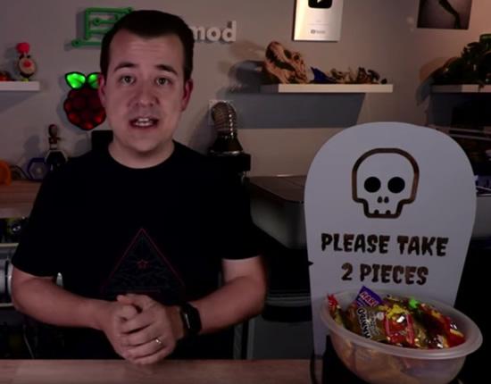 CircuitPython Halloween Candy Bowl Alarm