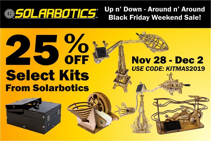 Solarbotics Thanksgiving Sale 2019 - 1920X1280