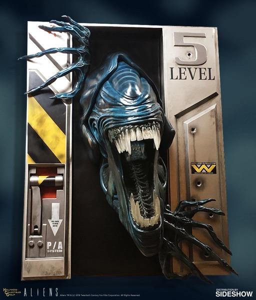 Alien queen wall sculpture 1