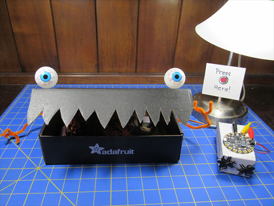 Circuit Playground Express Spooky Laughing Box