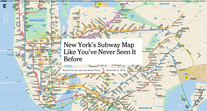 The New York City Subway Map as You ve Never Seen It Before The New York Times
