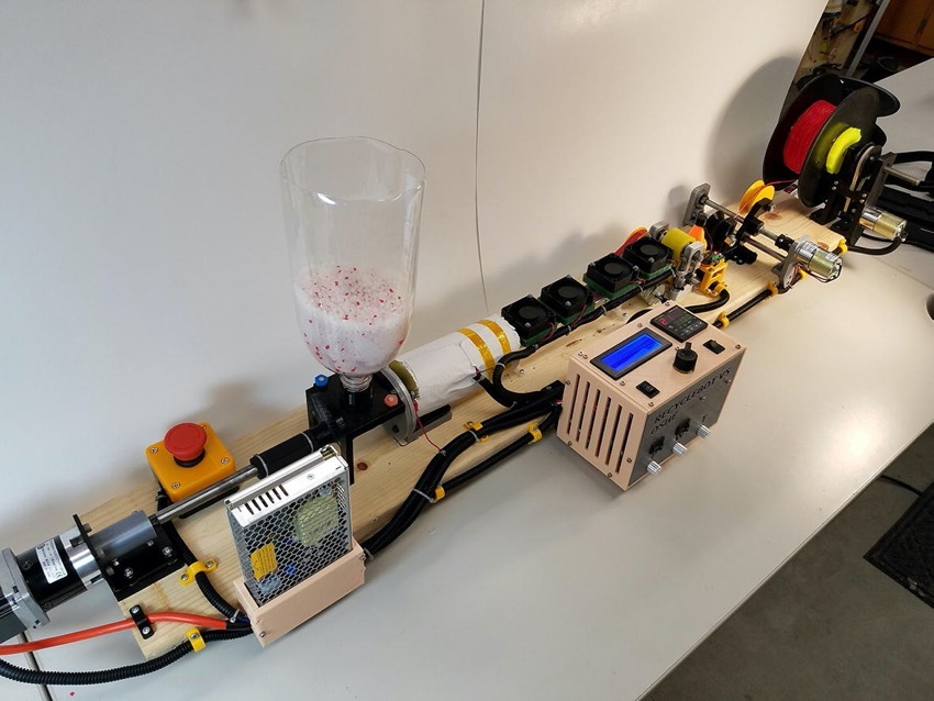 RepRapable Recyclebot Open Source 3-D Printable Extruder for Converting Plastic to Filament