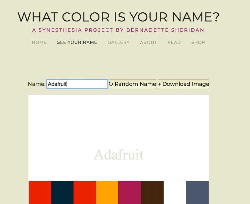 Type Your Name What color is your name