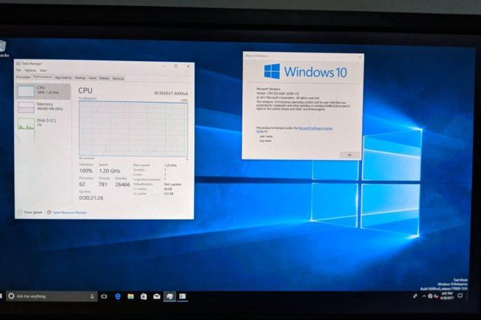 Windows 10 on Raspberry Pi 3 696x464
