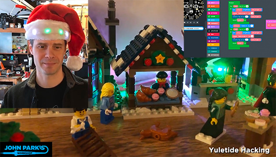 MakeCode Minute: Crickit Holiday Lights for LEGO