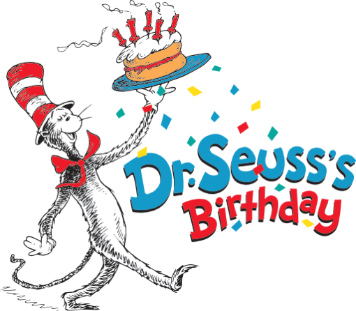 Drseuss birthday logo