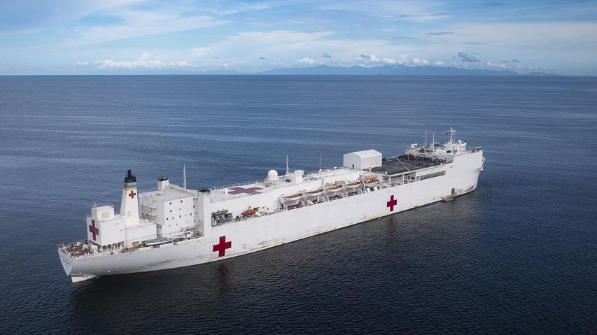 1920Px-Usns Comfort (T-Ah 20) Is Anchored Off The Coast Of La Brea, Trinidad And Tobago. (48677005558)