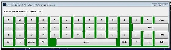 Virtual Onscreen Keyboard Using Python And Tkinter