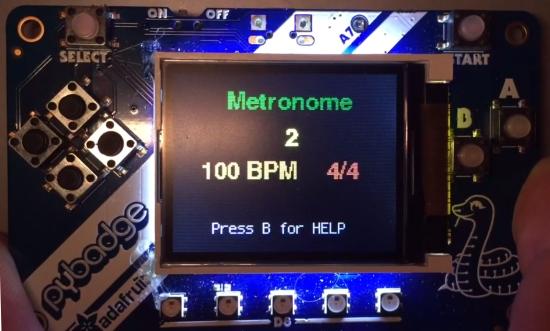 A CircuitPython-based Metronome with PyBadge