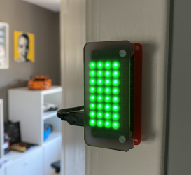 DIY busy light created with Raspberry Pi and Pimoroni LED hat 273x250