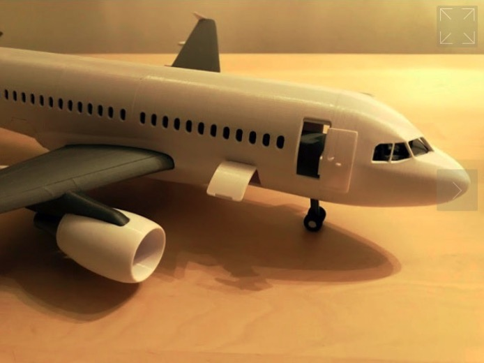 Airliner toy set inspired by Airbus A318 by Depronized Thingiverse