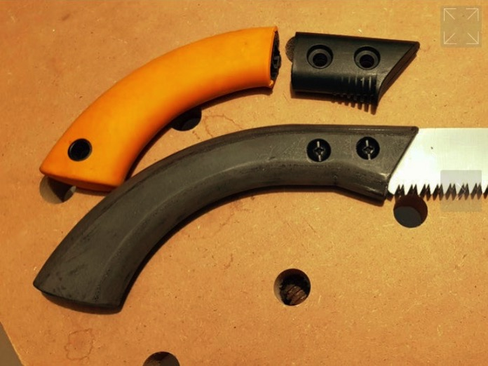 Banners and Alerts and Fiskars SW 84 hand saw handle by Dragondrummer71 Thingiverse