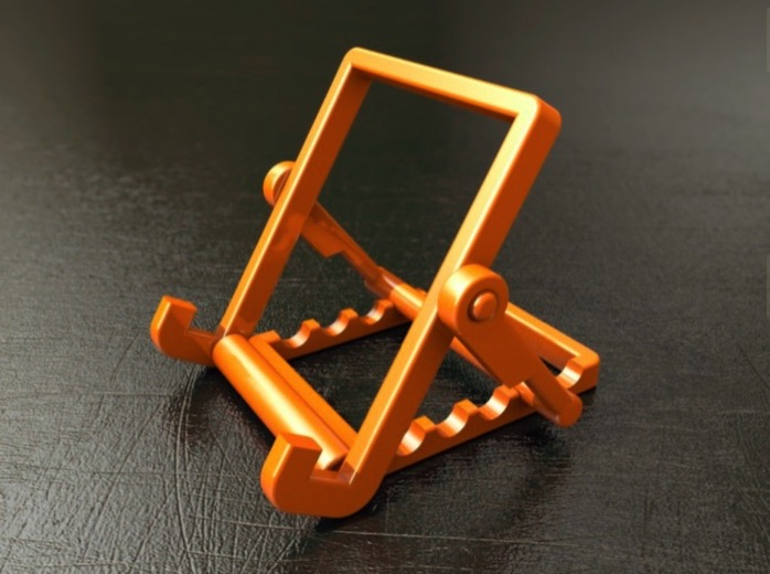 Foldable Tablet Phone Stand No Screws by Mike vom Mars Thingiverse
