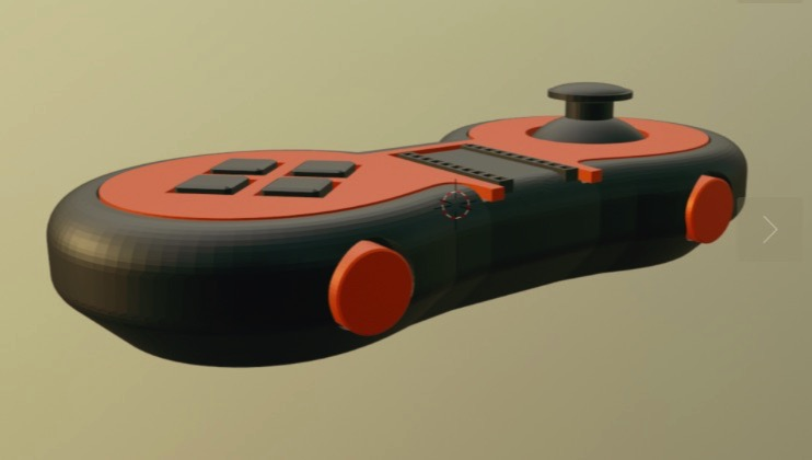 JoypadOS gamepad joystick by grid Thingiverse